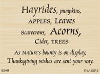 Hayrides Harvest Greeting - 624H