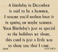 December Birthday Greeting - 648G