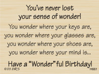 Sense of Wonder Birthday Greeting - 661H