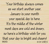 January Birthday Greeting - 902G