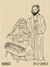 Small Nativity Scene - 696D
