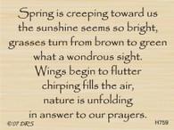 Spring Is Creeping Verse - 759H