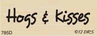Hogs and Kisses Greeting - 785B