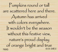 Pumpkin Greeting - 793G