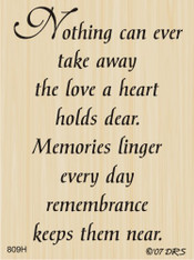 Remembrance Sympathy Greeting - 809H