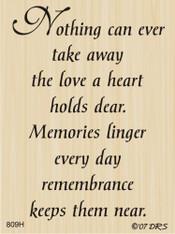 Remembrance Sympathy Greeting - 809H