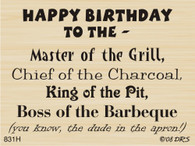 Boss of the BBQ Birthday - 831H