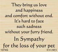 Furry Friend Sympathy Greeting - 1074G