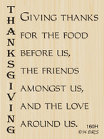 Giving Thanks Greeting - 160H