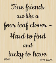 Four Leaf Clover Friends Greeting - 284F