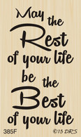 Rest Best of Life Birthday Greeting - 385F