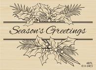 Season's Greetings Holly Spray - 487L