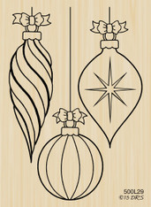Triple Hanging Christmas Ornaments - 500L