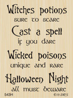 Poison Potions Halloween Greeting - 543H