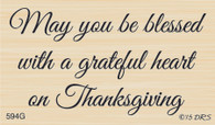 Grateful Heart Thanksgiving Greeting - 594G
