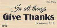 Give Thanks Bible Verse - 585E