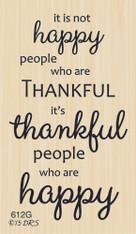Happy Thankful People Greeting - 612G