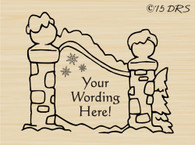 Custom Christmas Village Custom Name Sign Rubber Stamp
