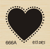 Small Silhouette Heart - 666A