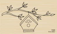 Birdhouse Tree Branch - 733K