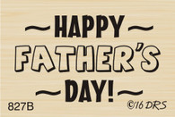 Small Happy Father's Day Greeting - 827B