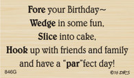 Par-Fect Golf Birthday Greeting - 846G