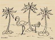 Flamingo Palm Tree Scene - 878L