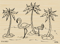 Flamingo Palm Tree Scene - 878L