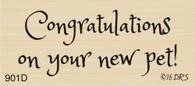 New Pet Congratulations Greeting - 901D