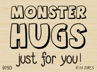 Monster Hugs Greeting - 975D