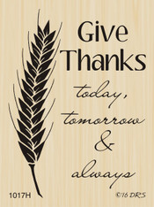 Wheat Give Thanks Greeting - 1017H