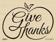 Give Thanks Brush Pumpkin - 988H