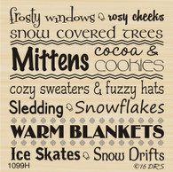 Winter Wonder Words Greeting - 1099H