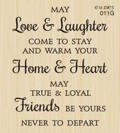 Love & Laughter Friends Greeting - 011G