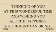 Happiness Retirement Greeting - 163G