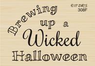Brewing Halloween Greeting - 308F