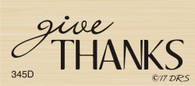 Give Thanks Greeting - 345D