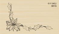 Poinsettia Vine Corner - 381G