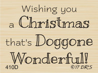 Doggone Christmas Greeting - 410D