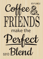 Coffee & Friends Greeting - 531D