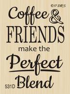 Coffee & Friends Greeting - 531D