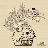 Snowy Birdhouse - 530H