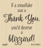 Blizzard of Thanks Greeting - 545F