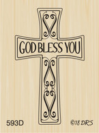 God Bless You Cross - 593D
