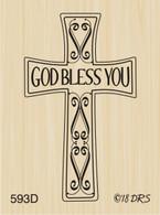 God Bless You Cross - 593D