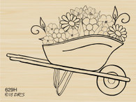 Flower Wheelbarrow - 629H