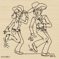 Western Dancing Couple - 691L