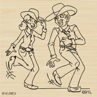 Western Dancing Couple - 691L