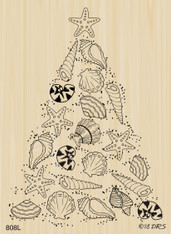 Seashell Christmas Tree - 808L