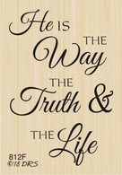 The Way, the Truth and the Life Greeting - 812F